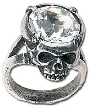 Alchemy Gothic ring Crystal head R100 (nr.22)