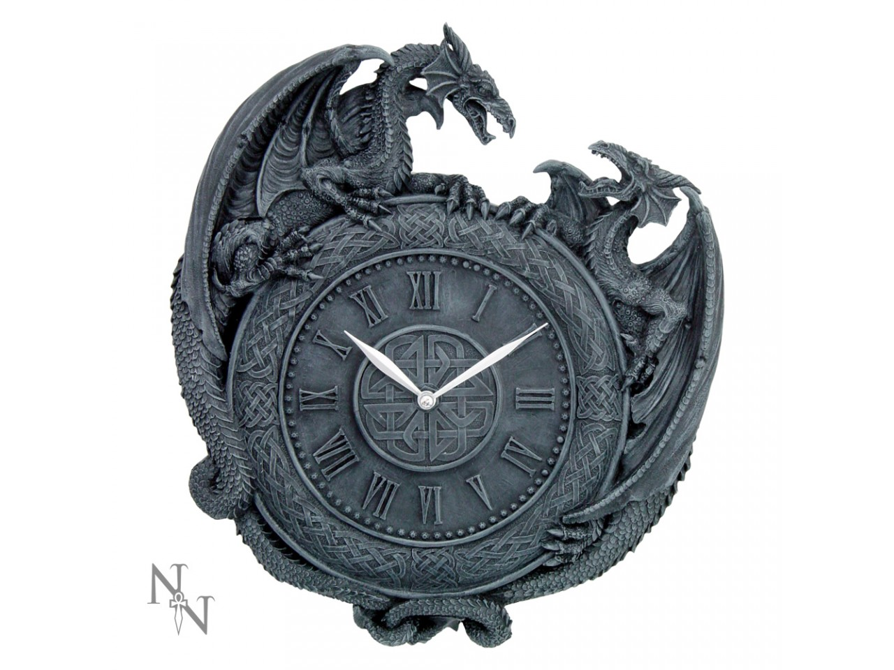 Dragon duel wall clock, by Nemesis Now